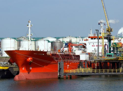 Oil tanker in the Port of Rotterdam