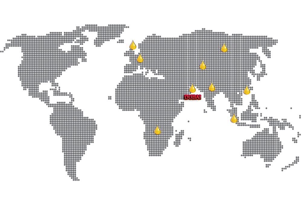 Our Network- World Map dotted